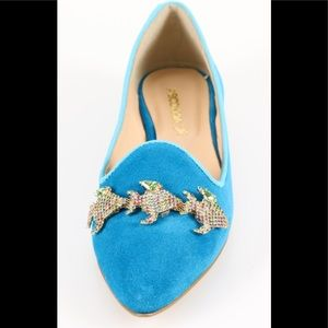 A'BIDDIKKIA turquoise suede shoes